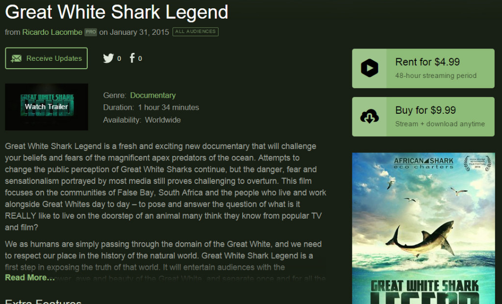Great White Shark Legend Vimeo On Demand screenshot